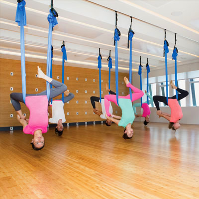 Image result for pure yoga aerial yoga